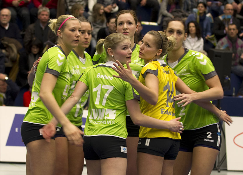 Volleyball 1. Damen Bundesliga: VC Wiesbaden - USC Muenster
